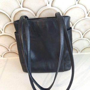Enzo Angiolini Genuine Leather Black Bag